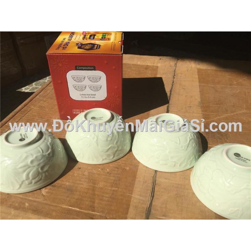 Bộ 4 chén sứ cao cấp Donghwa cẩn hoa sen màu xanh ngọc. - 3351141 , 973444184 , 322_973444184 , 39000 , Bo-4-chen-su-cao-cap-Donghwa-can-hoa-sen-mau-xanh-ngoc.-322_973444184 , shopee.vn , Bộ 4 chén sứ cao cấp Donghwa cẩn hoa sen màu xanh ngọc.