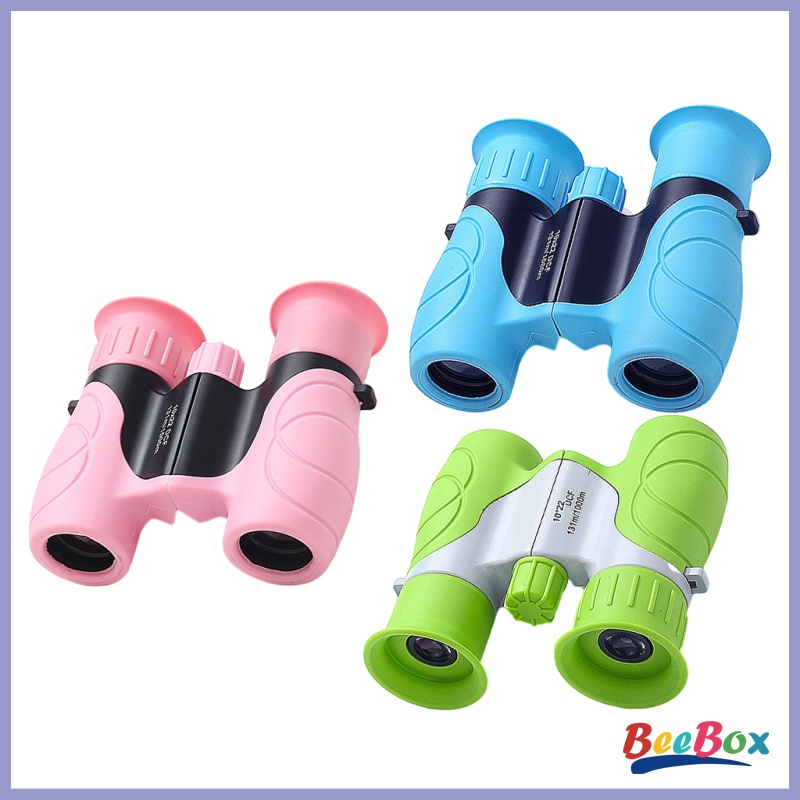 BeeBox Portable 10x22 Optical HD Binoculars Telescope for Kids Camping Toys, Easy to Focus