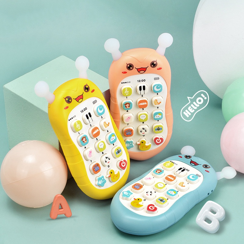 Children's Story Machine Puzzle Early Education Little Bee Mobile Phone Can Bite Silicone Material Multifunctional Puzzle Learning Machine