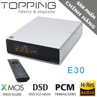 Dac Topping E30 Bộ Giải Mã Âm Thanh DSD512 PCM 768khz 32bit Model Mới thumbnail