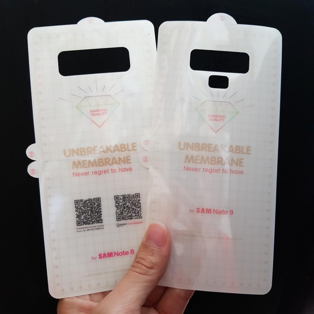 Combo Miếng dán PPF mặt trước và sau điện thoại samsung S7 Edge,S8,S8Plus,S9,9 Plus,S10,S10Plus,S10e,Note 8,Note 9