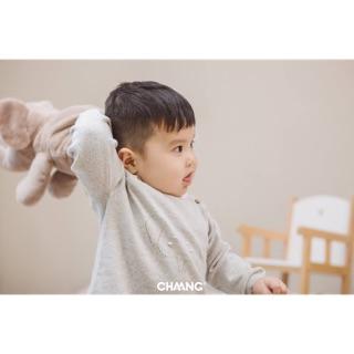Áo len cài vai Chaang- Ghi Hồng thumbnail