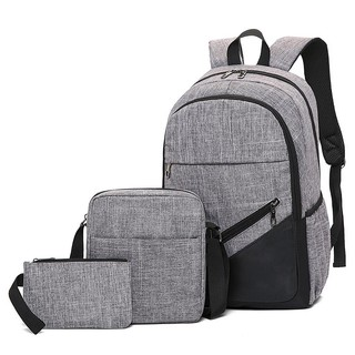 Bộ 3 Món Balo du lịch sinh viên,vải bố thời trang, ba lô laptop,balo cao cấp,ba lô giá rẻ