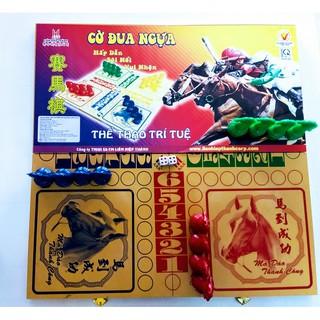 CỜ ĐUA NGỰA – bộ Bàn cờ Cá ngựa lớn có cờ