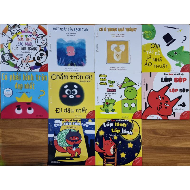 Mua Sách - Combo 10 Quyển Ehon Hình Khối, Màu Sắc, Âm Thanh - Ehon Nhật Bản Wabooks.