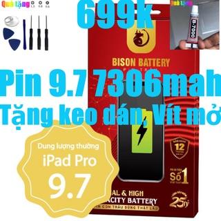 Pin iPads Pro 9.7, Pin iPads A1673 Bison 7306mah bảo hành 12 tháng thumbnail