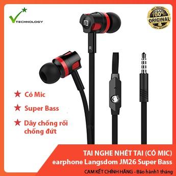 Tai nghe nhét tai earphone Langsdom JM26 Super Bass