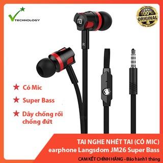 [Mã ELORDER5 giảm 10K đơn 20K] Tai nghe nhét tai earphone Langsdom JM26 Super Bass