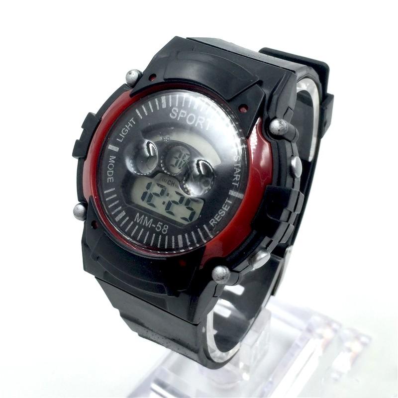 [Giá sỉ - Có clip thật] - Đồng hồ điện tử trẻ em MM-58 Black - Đồng hồ thể thao chống nước màu đen