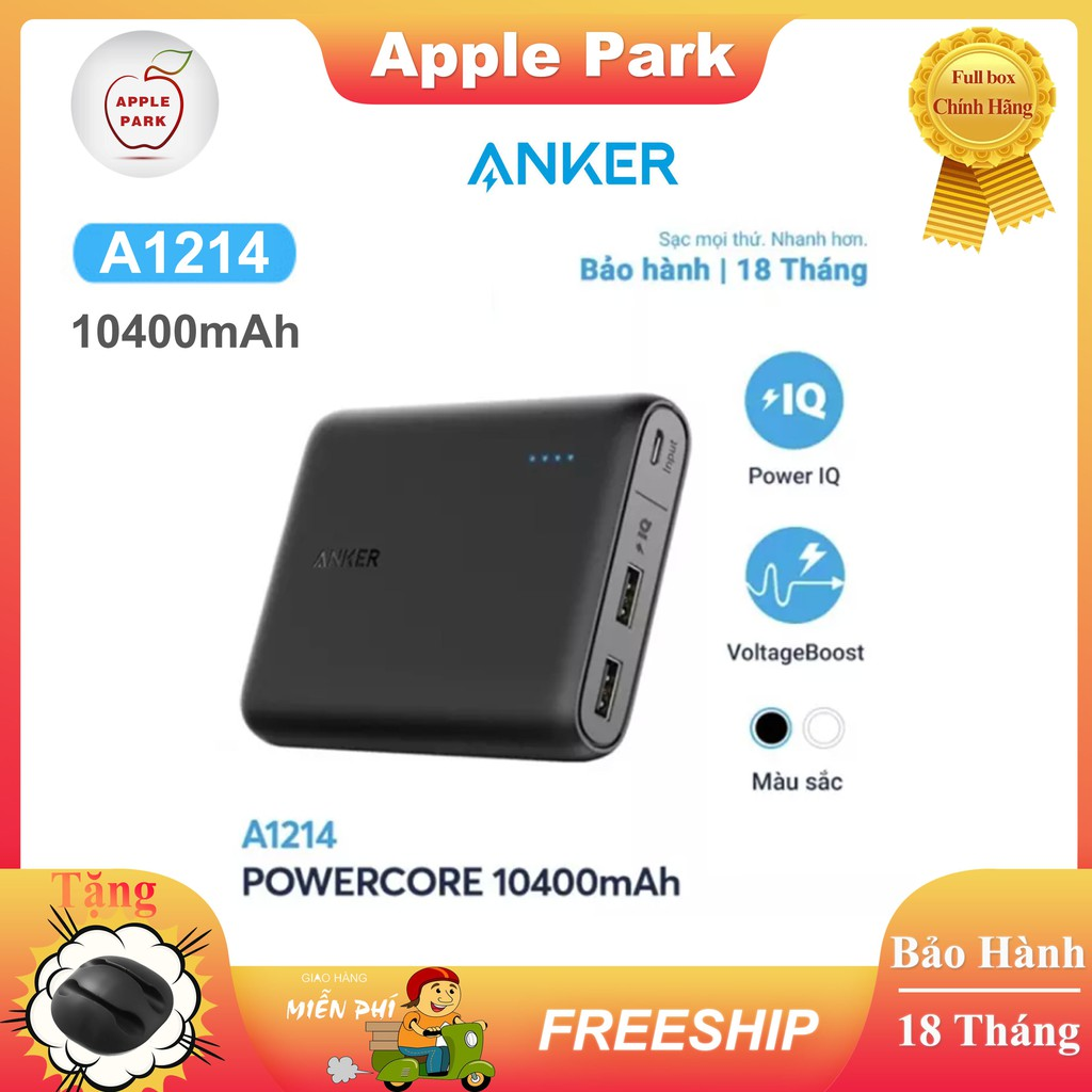 Pin Sạc Dự Phòng ANKER A1214 10400mAh A1215 13000mAh PowerCore 2 USB Sạc nhanh [Bảo hành 18 tháng]