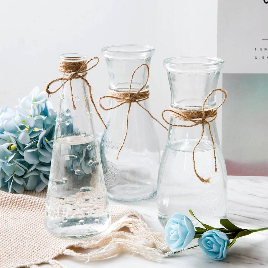 1 Pcs Transparent Glass Vase Living Room Flower Display Large Water Planting Dry Flower Glass Bottle