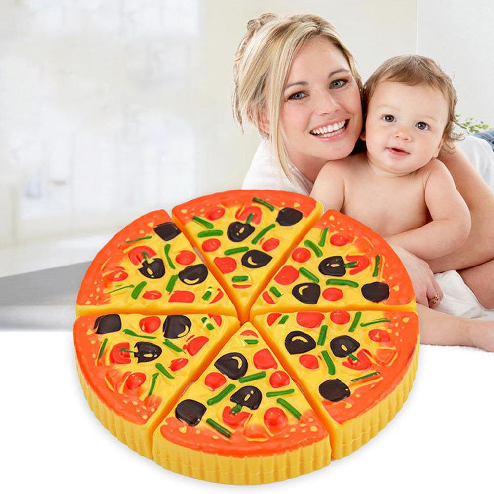 Cutting Children Kids Educational Baby Plastic Toy Pretend Play Pizza