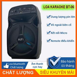Loa kéo mini, loa Bluetooth karaoke âm thanh lớn, echo vang, tặng kèm micro, remote điều khiển từ xa - SmatS