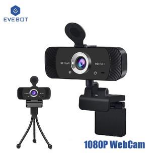 Webcam Evebot USB 1080p Kèm Mic Chất Lượng Cao