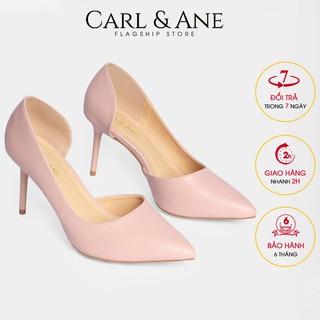 Carl & Ane - Giày cao gót bít mũi gót nhọn cao 9cm màu hồng _ CP001