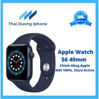 ĐỒNG HỒ Apple Watch SERIES 6 SIZE 40MM - DÂY CAO SU XANH NAVY GPS (MG143)