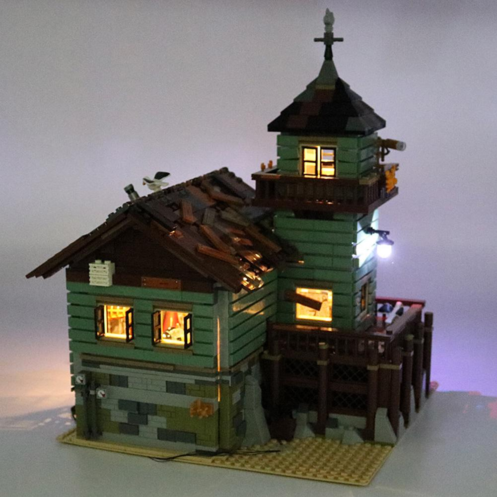 Kids ABS Durable Easy Install Black Energy Saving LED Light Kit Gift USB For Lego 21310 Old Fishing Store
