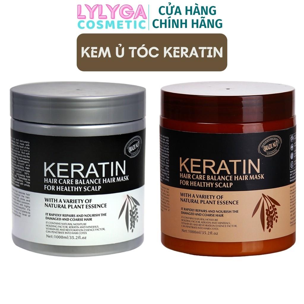 Kem ủ tóc KERATIN COLLAGEN 1000ML BRAZIL NUT - Ủ hấp tóc cân bằng KERATIN tự nhiên, hương thơm nước hoa UT08