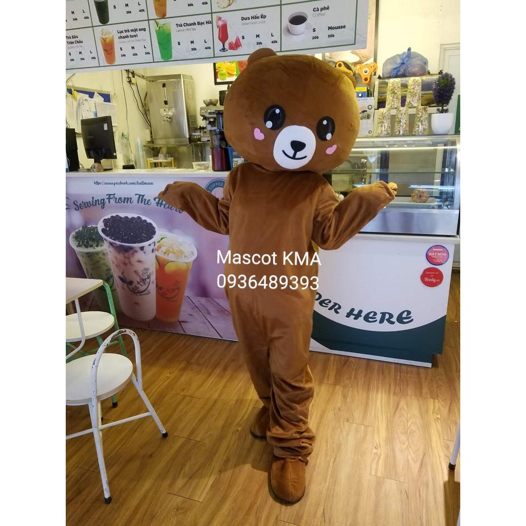 [Hàng có sẵn] Mascot hoá trang Gấu nâu, Gấu lầy cao cấp