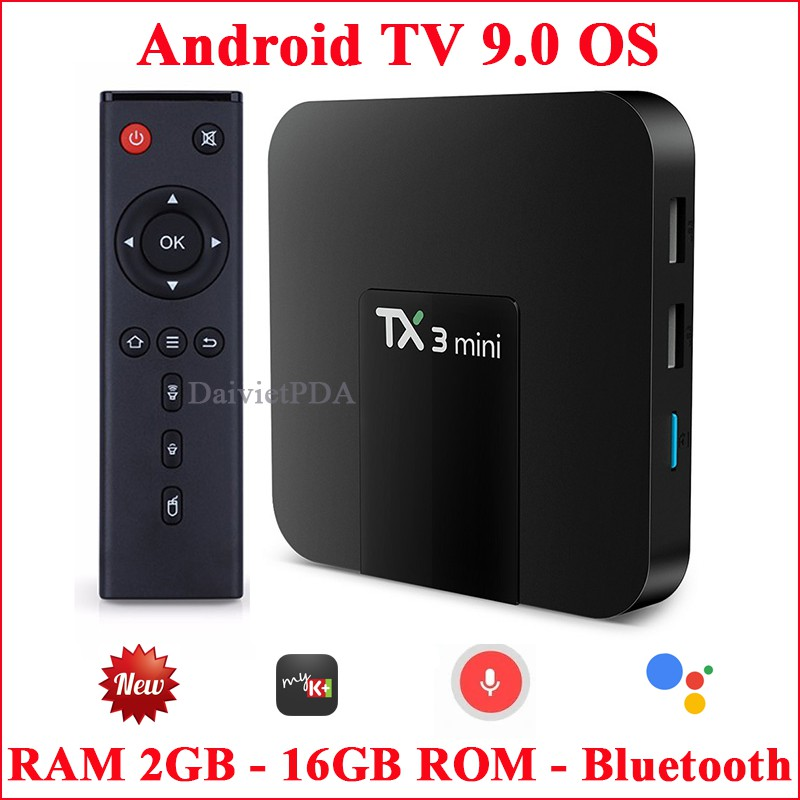 Android Tivi Box TX3 mini - Android TV OS 9.0 , Bluetooth