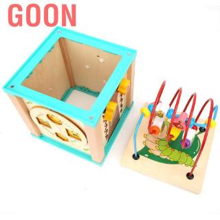 Goon Wooden Owl Bead Maze Game Roller Coaster Treasure Box Educational Toy for Children