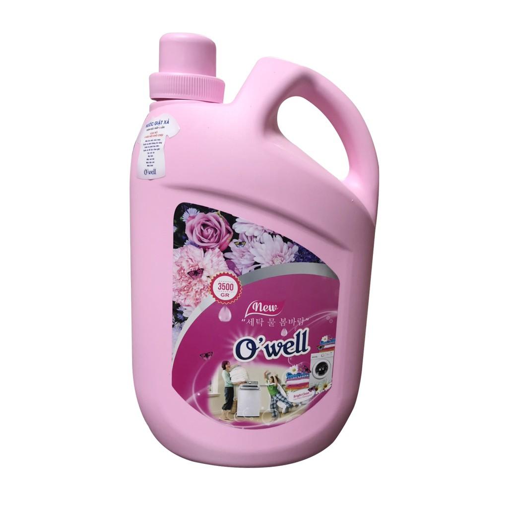 Nước giặt Owell hương gió xuân 3.5L + Tặng kèm chai NRC hương quế 400ml |  Shopee Việt Nam