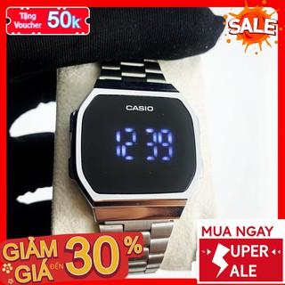 [QUÀ TẶNG] Đồng Hồ Nam/Nữ - Đồng Hồ Vintage Unisex Dây Thép Led Chạm Đa Chức Năng Chống Nước 974RT- 1199 Watches
