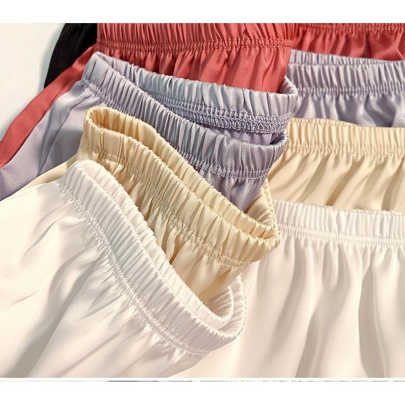 [Sẵn Hàng Quần ngủ lụa cho nữ, quần mặc trong váy ngủ, quần nữ