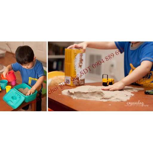 Bộ 4kg cát động học Kinetic Sand wabafun kèm đồ chơi