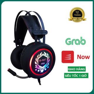 [Chính Hãng] Tai Nghe Gaming G-net H99 Jack 3.5 – Tai nghe chụp tai có đèn led đổi màu – Headphone Dây dài 2 mét