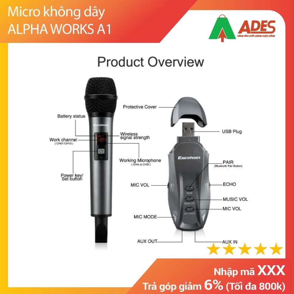Micro không dây ALPHA WORKS A1 Chính Hãng Giá Rẻ Vô Địch