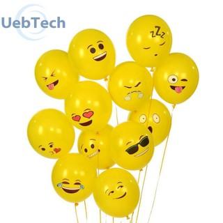 10pcs Yellow Smiling Face Expression Emoji Latex Balloons Wedding Decor