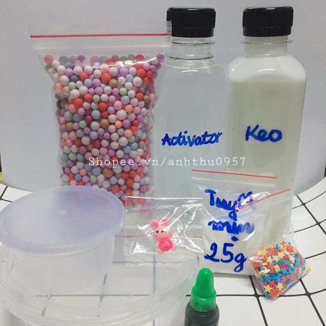Bộ kit làm slime (slime mây, slime xốp)_ nhập ANHTH123 giảm 10k