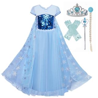 Váy công chúa Elsa đáng yêu xinh xắn dành cho bé gái