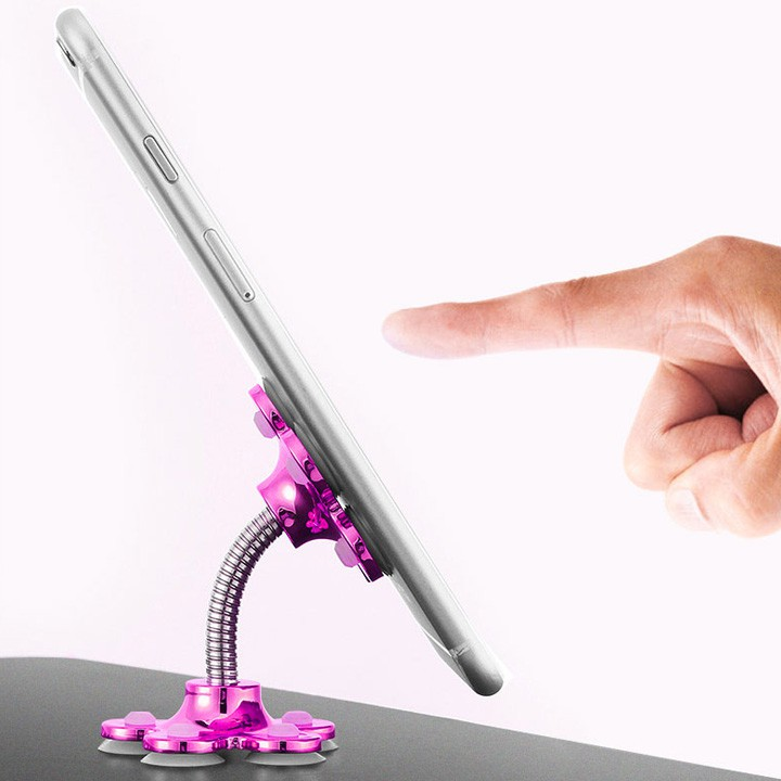 Giá đỡ điện thoại hút chân không hình bông hoa nhiều màu