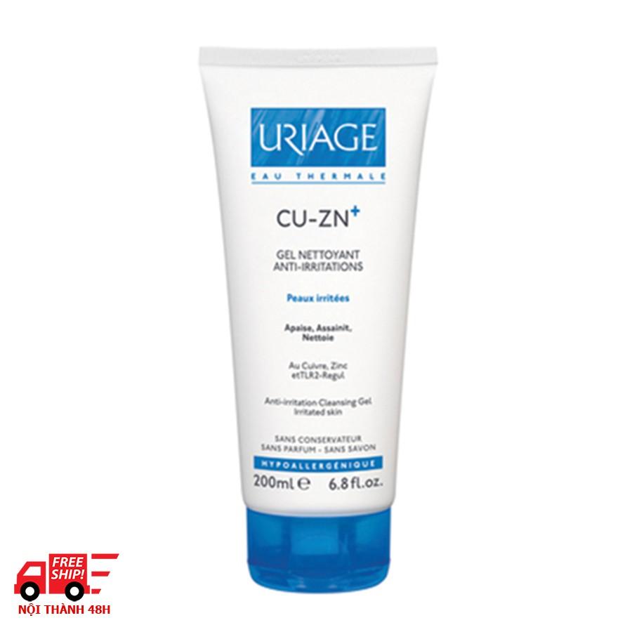 Gel làm sạch dành cho da kích ứng Uriage Cu-Zn+ Gel Nettoyant Anti - Irritations - 13702502 , 1101324461 , 322_1101324461 , 422400 , Gel-lam-sach-danh-cho-da-kich-ung-Uriage-Cu-Zn-Gel-Nettoyant-Anti-Irritations-322_1101324461 , shopee.vn , Gel làm sạch dành cho da kích ứng Uriage Cu-Zn+ Gel Nettoyant Anti - Irritations