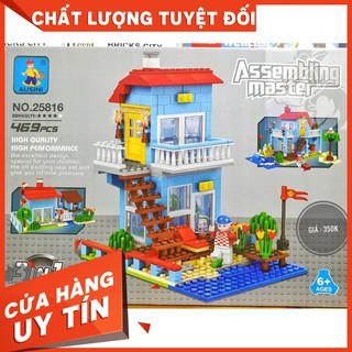 [HOT]LEGO Ausini 25816 Lắp Ráp Happy House 3 in 1 ( 469 Mảnh )-Hàng có sẵn