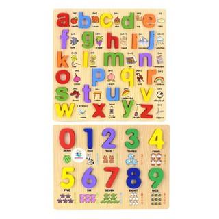 [COMBO 2] Bảng Ghép Chữ Nổi Song Ngữ Chữ Cái Thường Và Số Học