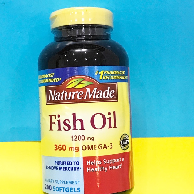 Dầu cá Nature Made Fish oil Omega 3 1200mg