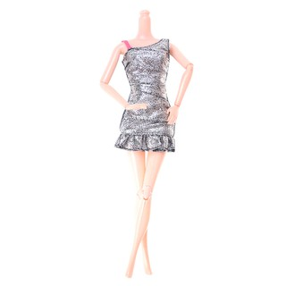 """MT 1PC Beautiful Doll Silver Dress Clothes 11"""" Doll 1/6 Dolls Party Accessories NY"""