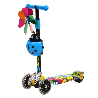 Xe Scooter 3 bánh hoạ tiết Graffiti Sportslink Cao Cấp