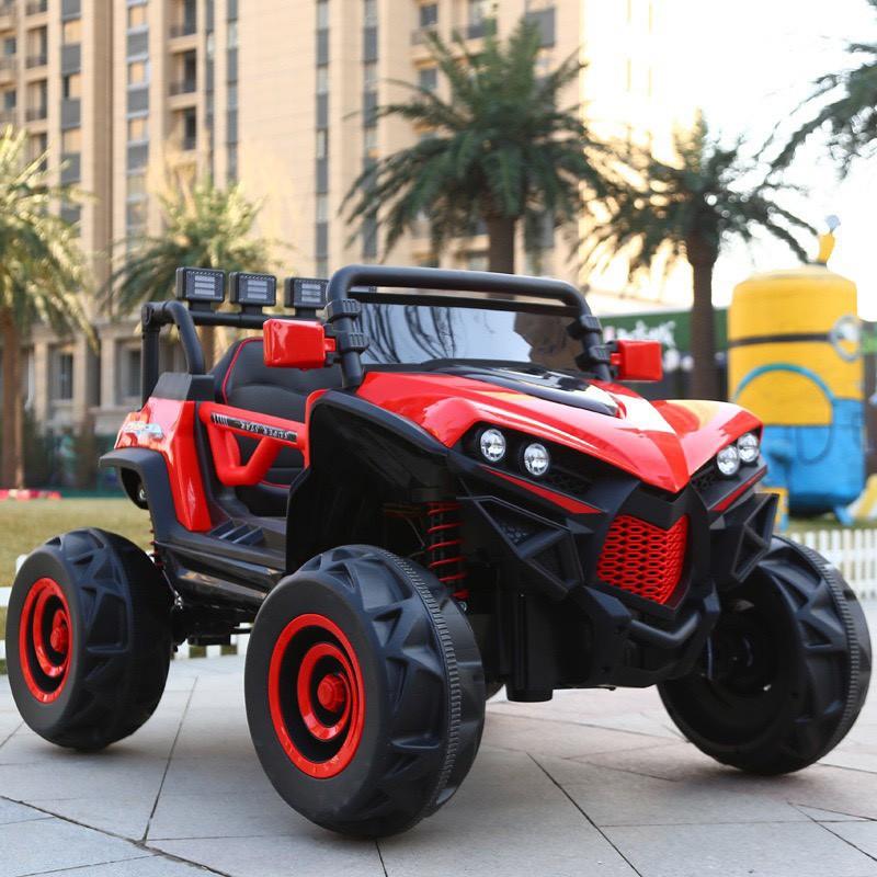 Siêu xe Ô tô điện trẻ em siêu địa hình XJL 588 đồ chơi vận động cho bé 2 ghế 4 động cơ