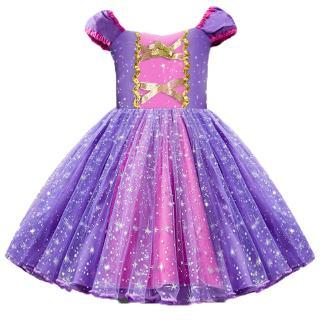 Đầm Hóa Trang Công Chúa Rapunzel Cho Bé Gái