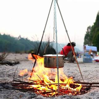 Kiềng 3 chân treo nồi cắm trại - Giá treo 3 chân dã ngoại gấp gọn mang đi du lịch, cắm trại, picnic, chất liệu hợp kim thumbnail