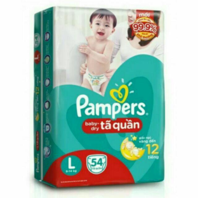 Tã quần pampers L54