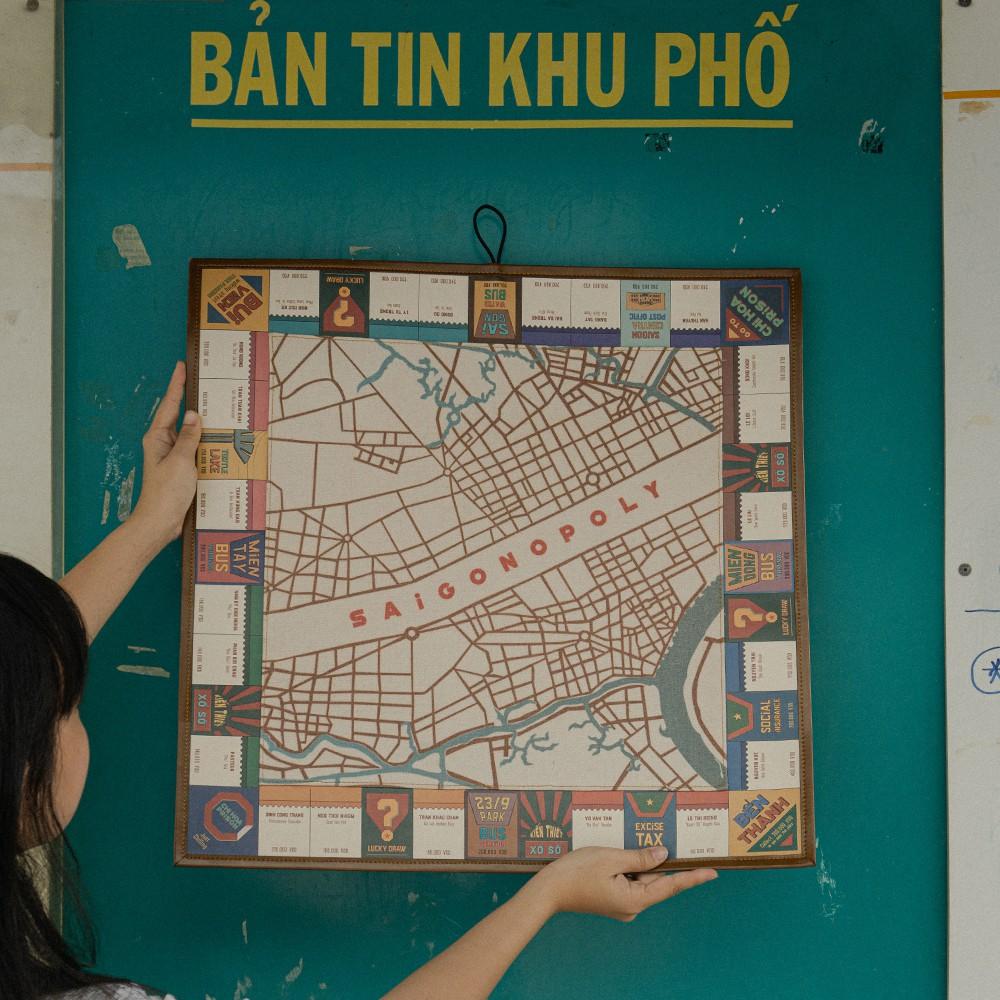 Cờ tỷ phú đặc biệt phiên bản Sài Gòn/ Hà Nội Canvas - Mang