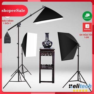 (Hàng Mới Về) Đèn Chụp Ảnh Sản Phẩm, Bộ Đèn Studio, quay phim, Livestream chuyên nghiệp, chân đèn cao 2m kèm Softbox 50x thumbnail