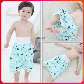 Quần tã Cotton chống thấm 360 độ, quần bỏ bỉm cho bé từ 0 - 6 tuổi có thể giặt thumbnail