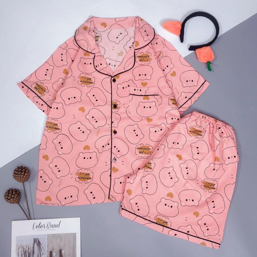 Mặc gì đẹp: Mát mẻ với Đồ ngủ pijama nữ tay ngắn quần cộc, Bộ mặc nhà chất kate thái mềm mát, quần áo ngủ pyjama bigsize HATIBO
