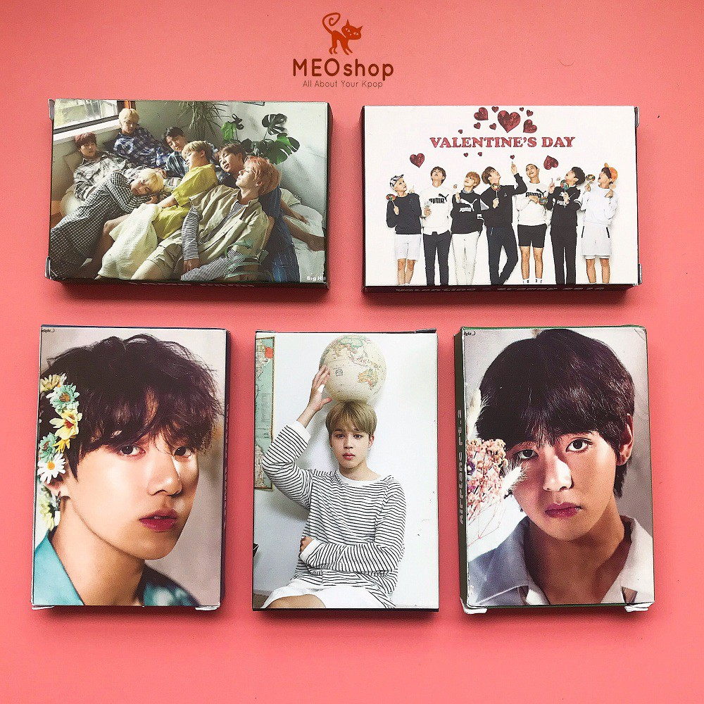 Tổng hợp 5 mẫu lomo card ảnh nhóm nhạc BT-S, V, JK, JM Exhibition và Japan version